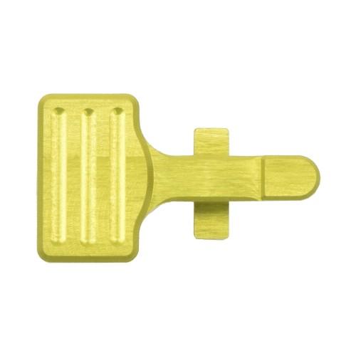 RETROARMS CNC BOLT CATCH AR15 TYPE B YELLOW (RA-6863)