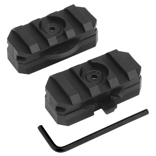 WOSPORT 2 ROTATABLE RAIL FOR HELMETS WITH 19mm RAIL GUIDE BLACK (WO-HL51)