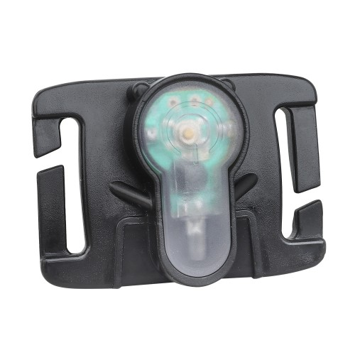 WOSPORT SIGNAL LIGHT RED FOR MOLLE SYSTEM WITH BLACK FRAME (WO-LT06BR)