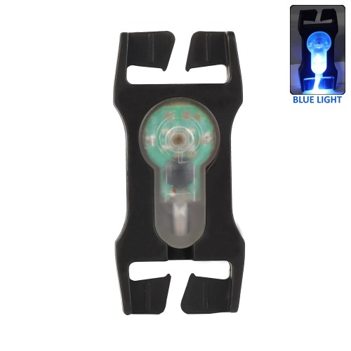 WOSPORT SIGNAL LIGHT BLUE FOR 2.5cm WEBBINGS WITH BLACK FRAME (WO-LT07BB)