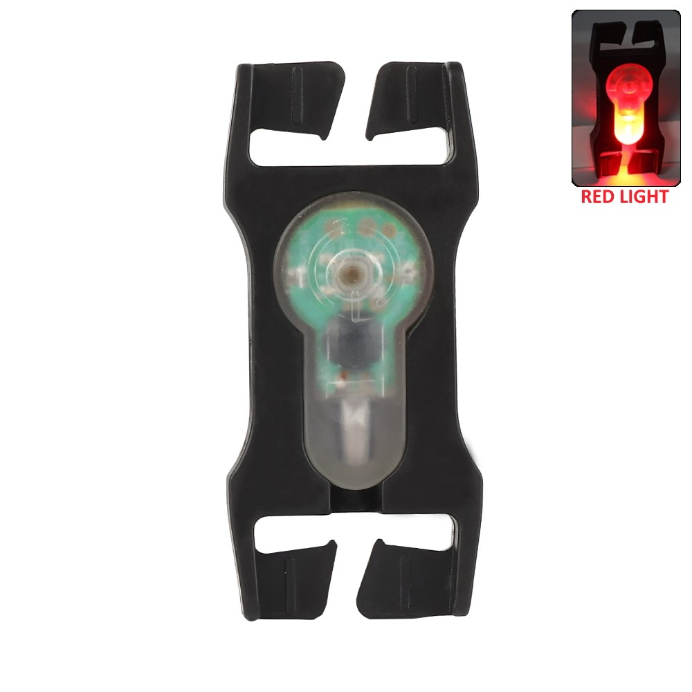 WOSPORT SIGNAL LIGHT RED FOR 2.5cm WEBBINGS WITH BLACK FRAME (WO-LT07BR)