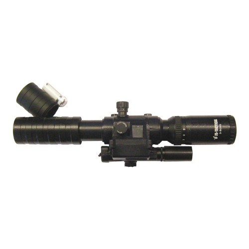JS-TACTICAL SCOPE ZOOM 3X - 9X LENS 32MM WITH RED LASER (JS-3-9X32G)