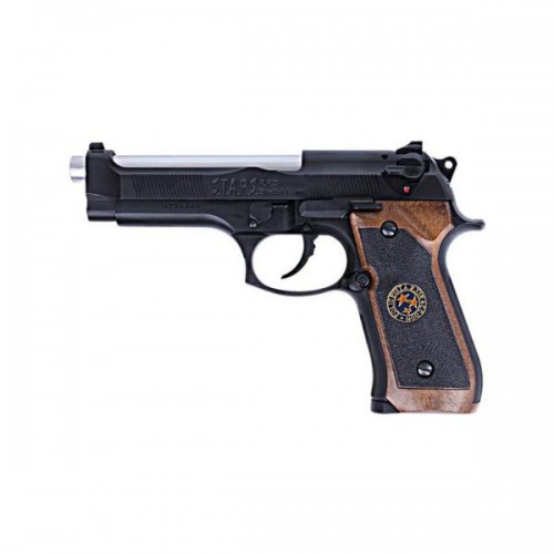 WE GAS PISTOL M92 BIOHAZARD BLACK (W2058B)