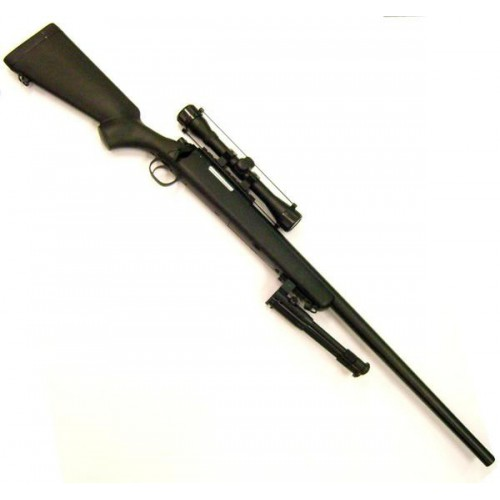 WELL SNIPER BOLT ACTION RIFLE WITH SCOPE BLACK (MB03BB-O)
