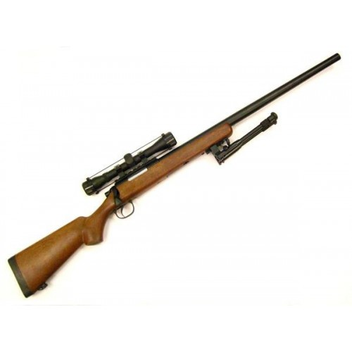 WELL SNIPER BOLT ACTION RIFLE WITH SCOPE IMITATION WOOD (MB03BW-O)