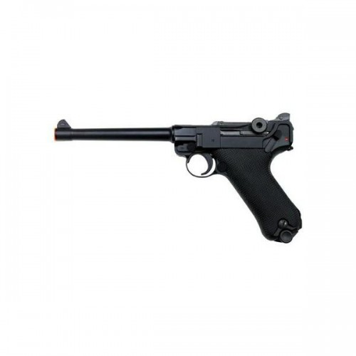 "WE GAS PISTOL P08 BLACK 6"" BARREL (W-P08M)"