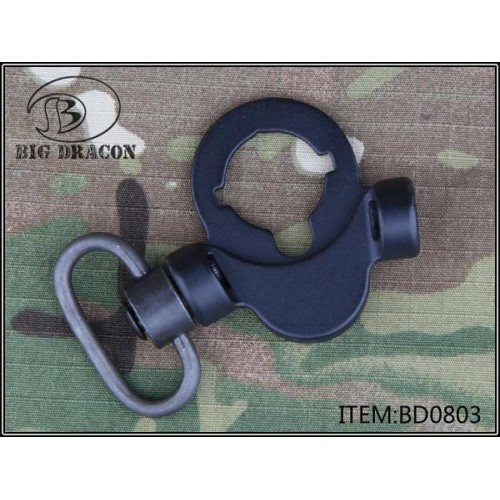 BIG DRAGON M4 STOCK MOUNT WITH DOUBLE MOUNT FOR QD SLING SWIVEL BLACK (BD-0803)