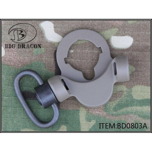 BIG DRAGON M4 STOCK MOUNT WITH DOUBLE MOUNT FOR QD SLING SWIVEL DARK EARTH (BD-0803A)
