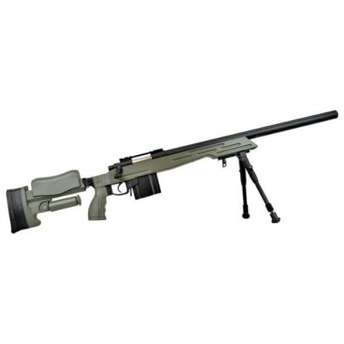 WELL SNIPER BOLT ACTION RIFLE WITH BIPOD GREEN (MB4413V)