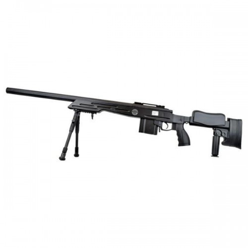 WELL SNIPER BOLT ACTION RIFLE WITH BIPOD BLACK (MB4413B)