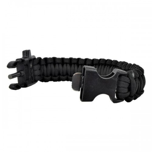 SURVIVAL BRACELET BLACK (WO-SL42B)