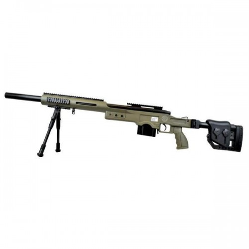 WELL SNIPER BOLT ACTION RIFLE WITH BIPOD OLIVE DRAB (MB4410V)