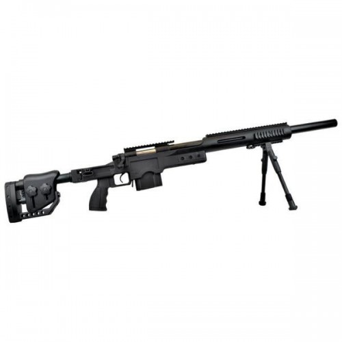 WELL SNIPER BOLT ACTION RIFLE WITH BIPOD BLACK (MB4410B)