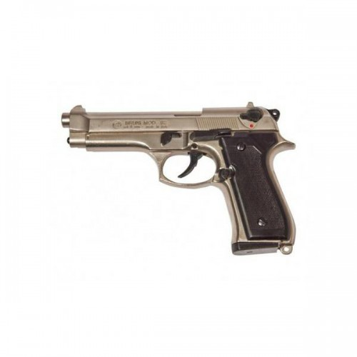 BRUNI TOP FIRING BLANK PISTOL 92 CALIBER 8MM NIKEL (BR-1300N)