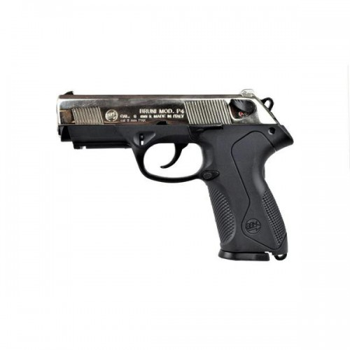 BRUNI TOP FIRING BLANK PISTOL P4 CALIBER 9MM NIKEL (BR-2601N)