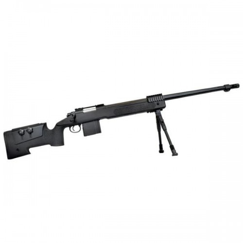WELL SNIPER BOLT ACTION RIFLE WITH BIPOD BLACK (MB4416B)