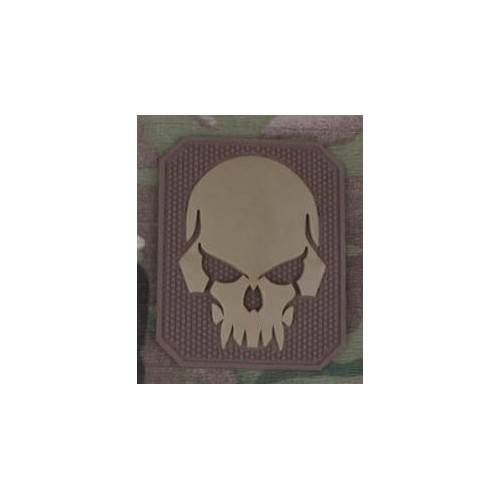 EMERSONGEAR PVC PATCH PIRATESKULL TAN (EM5550A)