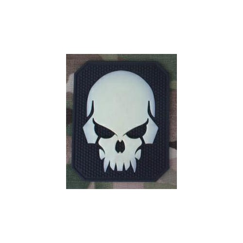 EMERSONGEAR PVC PATCH PIRATESKULL BLACK/POLISHED WHITE (EM5550B)