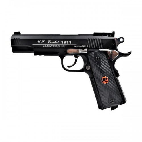 BRUNI CO2 4,5MM PISTOL U S  COMBAT 1911 BLACK (BR-601MP)