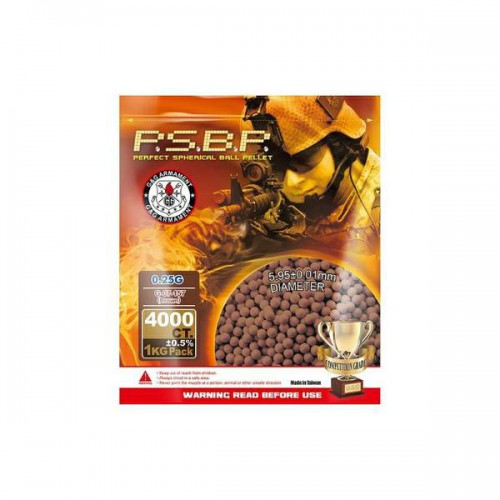 G&G ARMAMENT PSBP BALL PELLETS 0.25G BROWN (PERFECT 0.25BR)