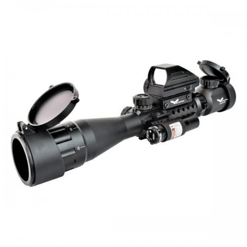 JS-TACTICAL COMBO SCOPE RED DOT LASER (JS-COMBO1)