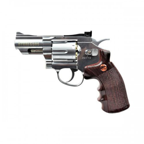 BRUNI CO2 4,5MM REVOLVER 2,5 SILVER (BR-708S)