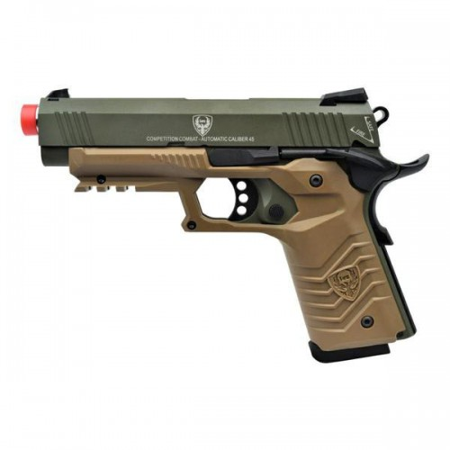 HFC PISTOLA A GAS HG-171 TACTICAL 1911 VERDE/TAN (HG 171G)