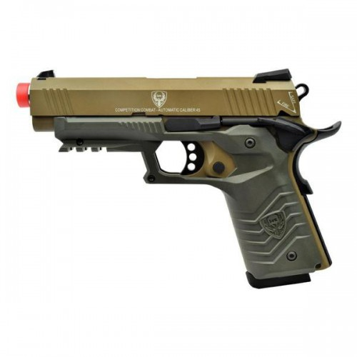 HFC GAS PISTOL HG-171 TACTICAL 1911 TAN/GREEN (HG 171T)