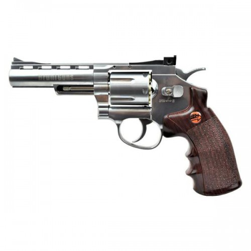 BRUNI CO2 4,5MM REVOLVER 4 SILVER (BR-701S)