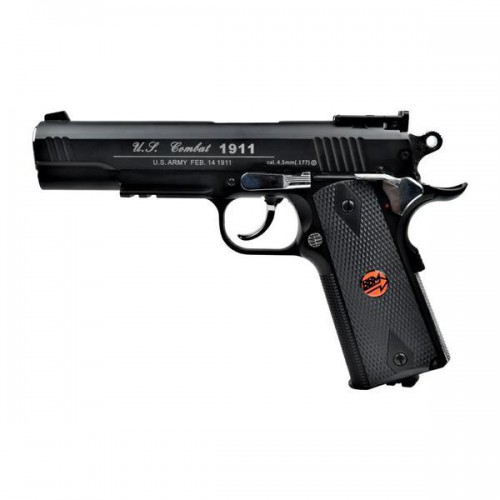 BRUNI CO2 4,5MM PISTOL U S  COMBAT 1911 FULL METAL BLACK (BR-601MB)