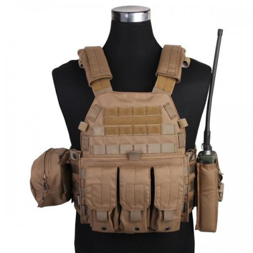 EMERSONGEAR TACTICAL VEST LBT6094A STYLE PLATE CARRIER COYOTE BROWN (EM7440CB)