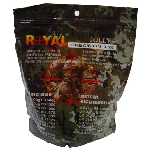ROYAL BALL PELLETS 0.28G WHITE (PRECISION 0.28)