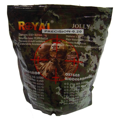 ROYAL BALL PELLETS 0.20G WHITE (PRECISION 0.20)