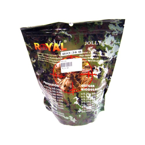 ROYAL BIODEGRADABLE BALL PELLETS 0.36g BLACK (BIO 0.36)