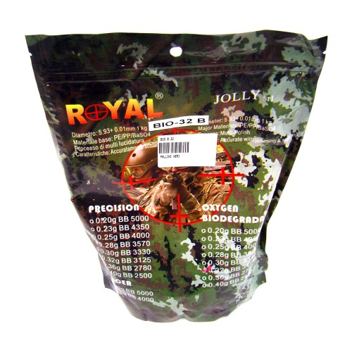 ROYAL BIODEGRADABLE BALL PELLETS 0.32g BLACK (BIO 0.32)