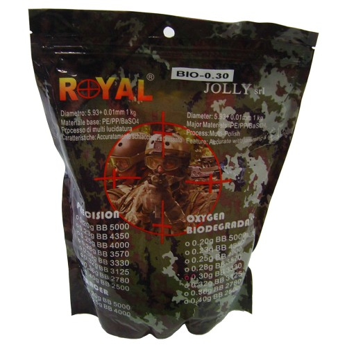 ROYAL BIODEGRADABLE BALL PELLETS 0.30g BLACK (BIO 0.30)