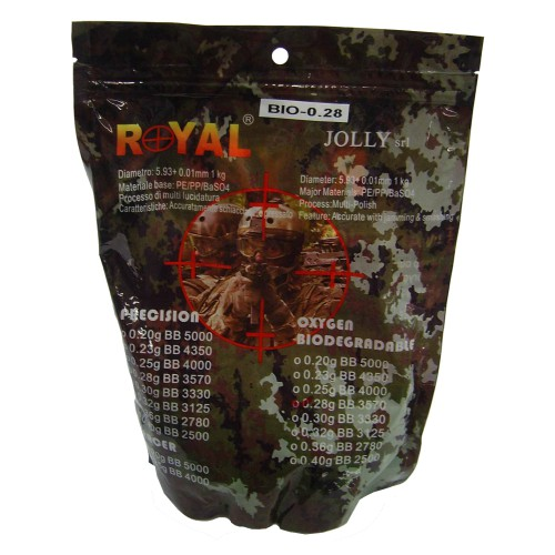 ROYAL BIODEGRADABLE BALL PELLETS 0.28g WHITE (BIO 0.28)