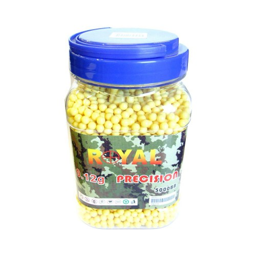 ROYAL BALL PELLETS 0.12G 5000 PIECES YELLOW (BB 5000)