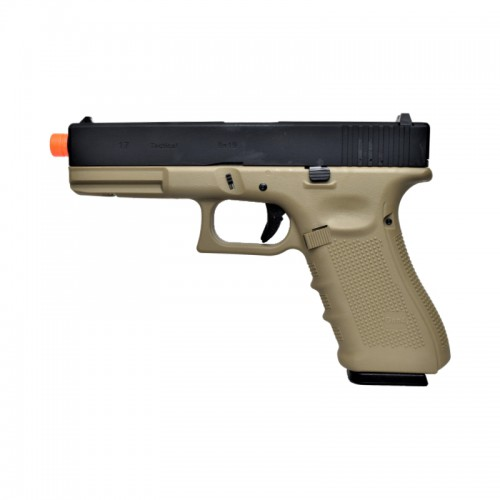 WE GAS PISTOL G17 TAN AND BLACK (W057BT)