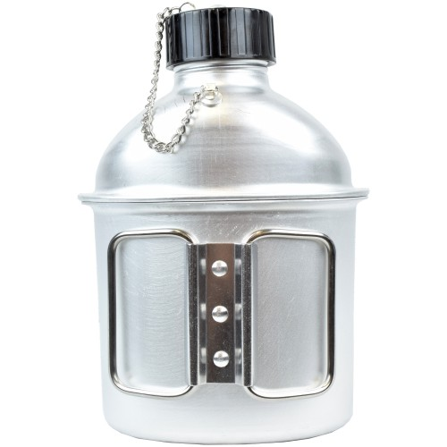 ALUMINUM CANTEEN 1 LITER WITH CUP (JS-1802)