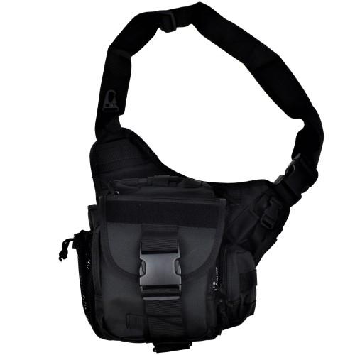 JS-TACTICAL TACTICAL SHOULDER BAG BLACK (JS-1085B)