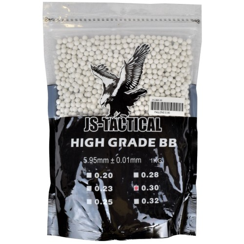 JS-TACTICAL BALL PELLETS 0,30G WHITE (JS-BB0.30)