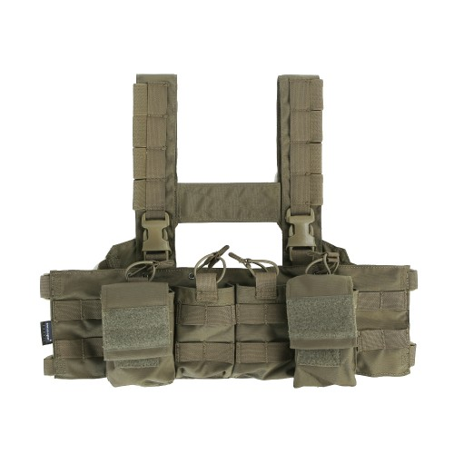 EMERSONGEAR BLUE LABEL TACTICAL VEST EASY CHEST RIG RANGER GREEN (EMB7450RG)