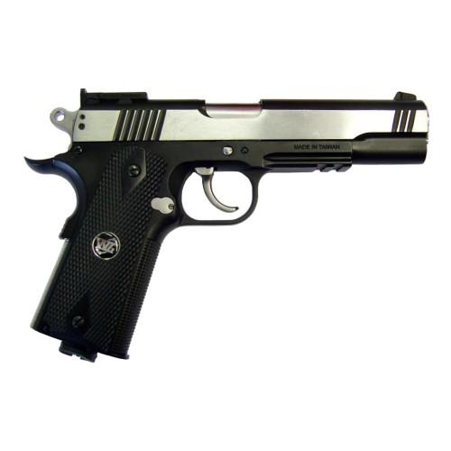 WIN GUN PISTOLA A CO2 SCARRELLANTE NERA/SILVER (C 601BC)
