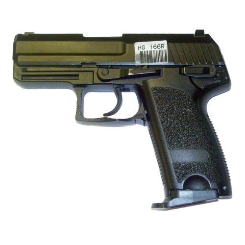 HFC GAS BLOW BACK PISTOL HALF METAL BURST BLACK (HG166R)