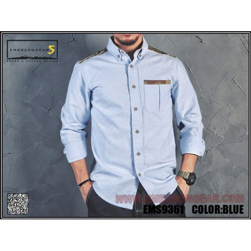 EMERSONGEARS GEN3 DIALY SHIRT BLUE LARGE SIZE (EMS9361B-L)