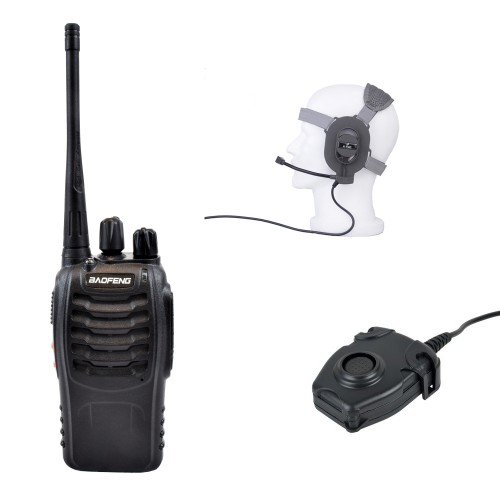 Z-TAC KIT TRANSCEIVER + PTT + HEADSET (EL-Z005SET)