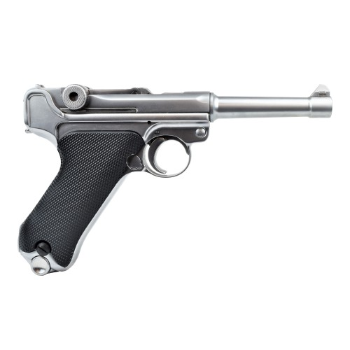 """WE PISTOLA A GAS P08S SILVER CANNA 4"""" (W-P08SS)"""