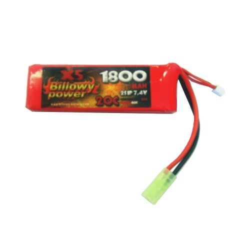 BILLOWY POWER LI-PO BATTERY 7.4V X 1800mAh 20C (BL-7 4X1800)