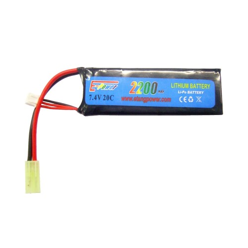 E-TANG POWER LI-PO BATTERY 7.4V X 2200MAH 20C (7.4X2200)